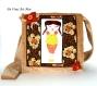 Sac cabas besace tissus femme,grand sac tissus femme,sac velours femme illustré,fait main artisanal