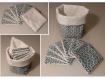 Paniers en tissus, paniers de rangement et lingettes démaquillantes ou débarbouillettes- patafiletbobinette