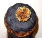 Bonnet femme fille tricoté beanie à pompon t.54-56 n031