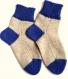 Chaussettes enfant 3-4 ans laine couleur beige bleue n 003