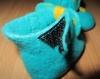 Chaussons bébé fille  feutrés 100% laine mérinos n 19