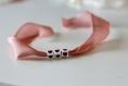 Bracelet porte bonheur personnalisable ruban de soie