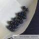 Perle - obsidienne céleste- 40 perles 6mm
