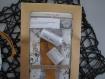 Kit de couture sac - pochon prêt à coudre diy pour coton lavable, tétine, toilettes...-cadeau noel anniversaire naissance bebe enfant