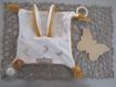 Kit de couture doudou plat lange à nouer avec oreilles bébé prêt à coudre diy - dentition attache tétine - cadeau noel, naissance, maman