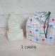 Jeux jeu de construction bébé enfant , lot de 3 cubes à empiler, forme, développer imagination -rectangle triangle - sac de rangement inclus
