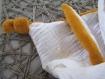 Doudou plat lange à nouer avec ses oreilles bébé enfant - dentition attache tétine - cadeau noel, naissance, maman, pré natale, anniversaire