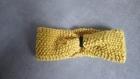 Bandeau croisé nœud tricoté - cadeau femme mère anniversaire noel -