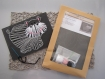 Kit couture enfant - carton à broder avec aiguille plastique et fils laine assortis - cadeau anniversaire noel -activité manuelle montessori