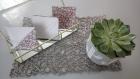 Kit couture pour 6 sous-verres simili/tissu enduit anti dérapant- dessous de tasse thé, café, chocolat - cadeau noël anniv femme déco