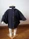 Poncho imperméable, coupe vent, cape, manteau en softshell avec col bébé enfant , capuche amovible fermeture zippé et boutonnage pression