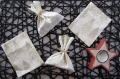 Lot de 2 ou 4 pochons, sachets à cadeaux réutilisable noël - baluchon hotte emballage cadeau tendance - remplace le papier cadeau