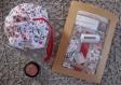 Kit de couture sac - pochon maquillage prêt à coudre diy femme cadeau saint valentin anniversaire- coton lavable, nécessaire coiffure