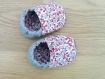 Chaussons - chaussettes souples motricité en coton  avec semelle cuir anti-dérapant pour bébé, enfants de la naissance à la taille 23