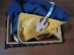 Couverture capuche réversible- cape - plaid- cadeau naissance - pour envelopper votre enfant bien au chaud