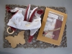 Kit de couture doudou + anneau dentition - plat à nouer avec ses oreilles prêt à coudre diy bébé - cadeau noel, naissance, maman, pré natale