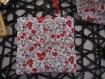 Kit de couture 6 cotons lingettes carré lavable prêt à coudre diy femme soin- cadeau saint valentin anniv- démaquillant réutilisable