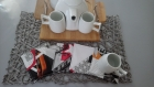 Sous verres simili/tissu enduit anti dérapant - dessous de tasse thé, café, chocolat - cadeau