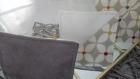 Kit couture 6 sous-verres simili/tissu enduit anti dérapant prêt à coudre diy- dessous de tasse - cadeau noël anniv femme déco