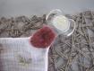Kit de couture doudou plat lange à nouer prêt à coudre diy avec ses oreilles bébé - dentition tétine - cadeau noel, naissance, maman