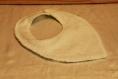 Bavoir triangle en éponge de bambou thème arc en ciel