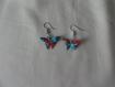 Boucles d'oreilles origami papillon bd