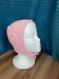 Bonnet béguin - layette rose  bebe 6 mois
