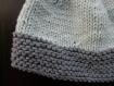 Bonnet naissance tricot layette bleu