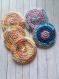 Lot cotons lavables au crochet pastel- zero dechet (fait main) sur commande