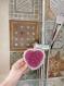 Éponge tawashi coeur sur commande / washable and reusable sponge