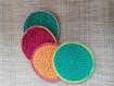 Lot cotons lavables au crochet- zero dechet (fait main) sur commande