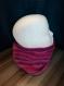 Lot bonnet / echarpe snood bébé tricot rose violet 2 ans - fait main