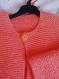 Gilet boutonné  tricoté - orange 6 /8 ans