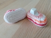 Chaussons 3 mois- rose layette crochet
