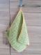 Torchon crocheté vert - zéro déchet