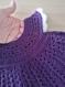 Robe 3/6 mois crochetée - fait main