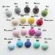 Attache tétine silicone personnalisée : fleur (à vous de choisir couleur du clip et des perles fleur)