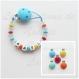Attache tétine silicone personnalisée confetti / multicolore