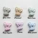 Attache tétine silicone personnalisée : koala (à vous de choisir couleur du clip et de la perle) / attache tétine koala