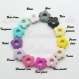 Attache tétine silicone personnalisée : coeur / fleur (à vous de choisir couleur du clip et de la perle) / attache tétine coeur