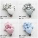 Attache tétine silicone personnalisée : coeur / couronne (à vous de choisir couleur du clip et de la perle) / attache coeur