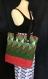 Grand sac besace matelassé vert-rouge (46cm/41)