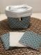 Lingettes lavables et réutilisables - démaquillantes dans leur panière - zéro déchet