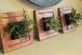 Cadre triptyque végétal en carton recyclé