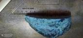 Géode agathe bleu