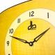 Horloge murale style vintage jaune années 70
