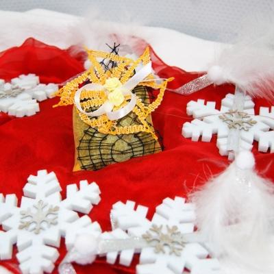 Sachet de lavande avec dentelle aux fuseaux pochette parfumée décoration d'intérieur cadeau avec dentelle senteur pour linge accessoire