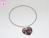 Collier avec dentelle aux fuseaux  pendentif coeur  bijou femme  bijou en dentelle  textile  bijou artisanal