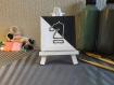 Petite toile brodée cavalier échecs