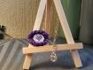 Bracelet brodé violet